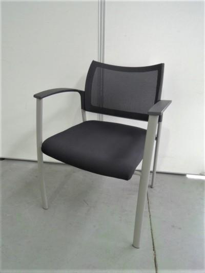 イナバ スタッキングチェア4脚セット 中古|オフィス家具|ミーティングチェア