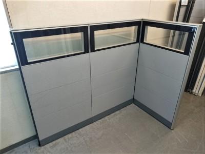 ウチダ(内田洋行) 3連L型パーテーション 中古|オフィス家具|パーテーション