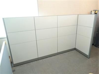 イナバ 4連L型パーテーション  中古|オフィス家具|パーテーション
