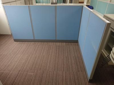 ウチダ(内田洋行) 5連L型パーテーション 中古|オフィス家具|パーテーション|自立式